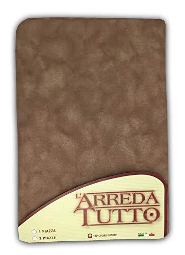 Tex family Tissu d'ameublement, grand foulard, couvre-lit, couvre-canapé, tissu uni marron – 2 places