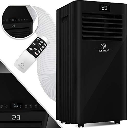 KESSER® - Klimaanlage Mobiles Klimagerät 4in1 kühlen, Luftentfeuchter, lüften, Ventilator - 7000 BTU/h (2.000 Watt) 2,3KW - Mobil Klima mit Montagematerial, Fernbedienung und Timer, Nachtmodus EEK: A