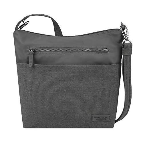 Travelon Women's Diebstahlsicher Shoulder Bag, Gray, 11.25 x 10.75 x 4.6