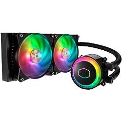 Cooler Master MasterLiquid ML240R RGB Dissipatore a Liquido per CPU - Sincronizzazione Illuminazione ARGB, Design Pompa Premium e Doppia Ventola MF120R ARGB