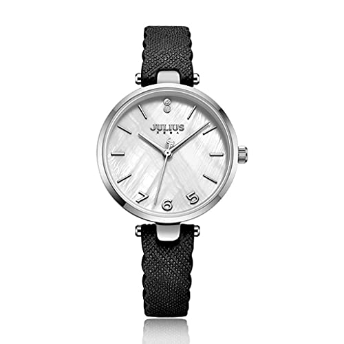 WYZQ Reloj de Cuarzo Moda Retro Shell Surface Ladies Simple Trend Reloj Impermeable (Color: E) (Color: D), Relojes