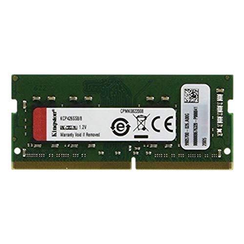 【100%互換性】 Kingston ノートPC用メモリ DDR4 2666MHz 8GBx1枚 Non-ECC Unbuffered SODIMM CL19 KCP426SS8/8
