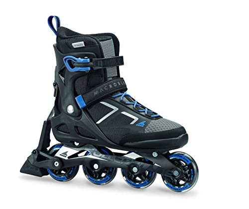 Rollerblade Herren MACROBLADE 80 ABT Inline Fitness Skate, schwarz/Blau, 43