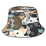 GodYo Bucket Hat Packable Reversible Boston Terrier Print Sun Hat Fisherman Hat Cap Camping al Aire Libre