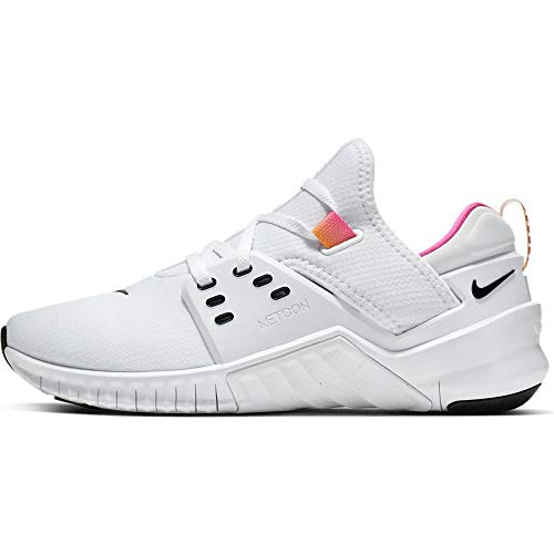 Nike Women's Free Metcon 2 Training Shoe White/Black/Laser Fuchsia Size 7.5 M US