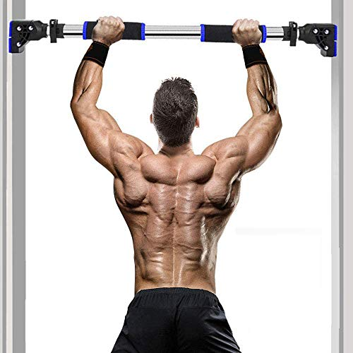 ANBO Pull Up Bar for Doorway, Multifunction Adjustable Width Chin Up Bar Upper Body Workout Bar Home Gym Fitness Exercise Equipment No Screws Trainer