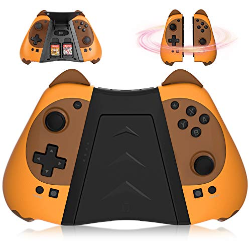 Kingear Mandos Controller for Consola Switch, KINGEAR Mando Pro Controller for Videojuegos Animal Crossing, Encantador Regalo Mujer Regalo Hombre Diviértanse Juntos