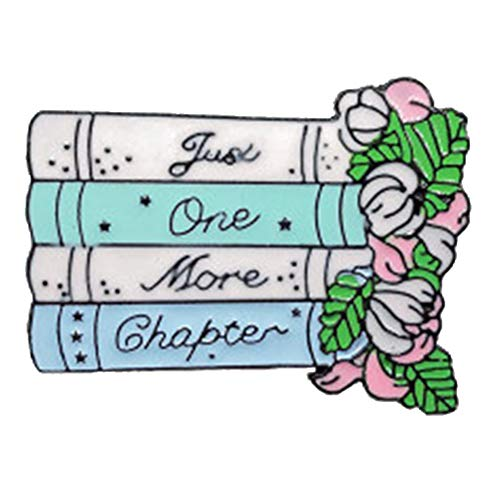 Placas De Dibujos Animados Carta Apenas Un Más Libro De La Flor Capítulo Pernos De Las Broches De La Joyería Para El Lector Broche De Mochila Baratijas