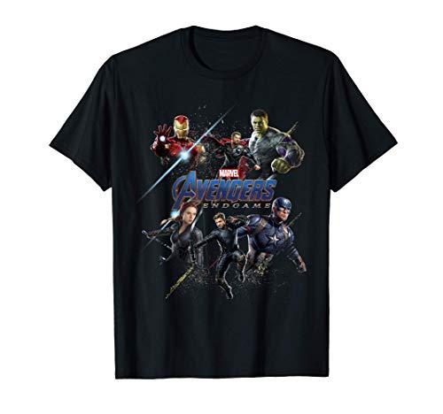 Marvel Avengers Endgame Heroes Logo Camiseta