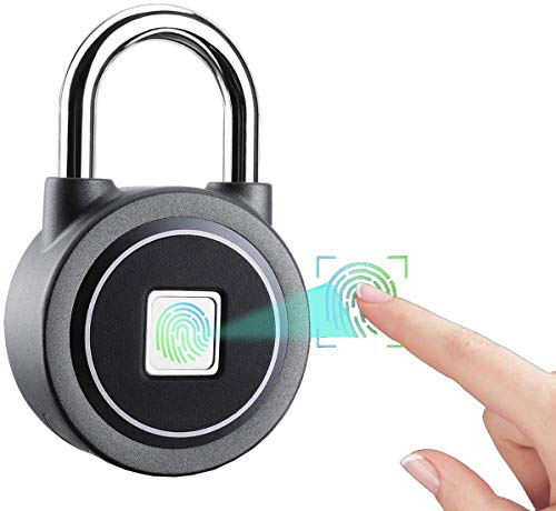 Fingerprint Padlock, Bluetooth Connection Metal Waterproof, Suitable for House Door, Suitcase, Backpack,...