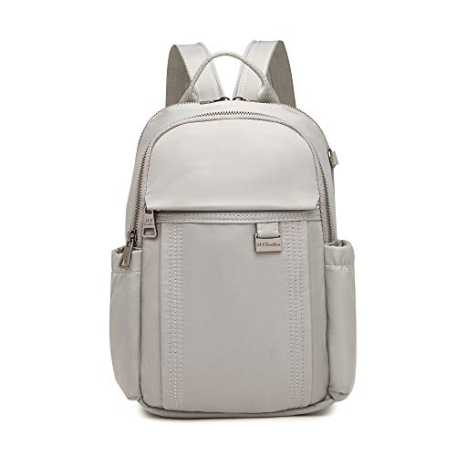 Backpack Purse for Women and Girls, Casual Lightweight Travel and School Bag (Light Grey)