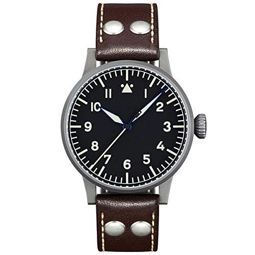 Fliegeruhr Basis Saarbrücken von Laco – Made in Germany – 45 mm Ø hochwertige Herren-Automatik Uhr – Einzigartige Qualität. Herausragende Verarbeitung