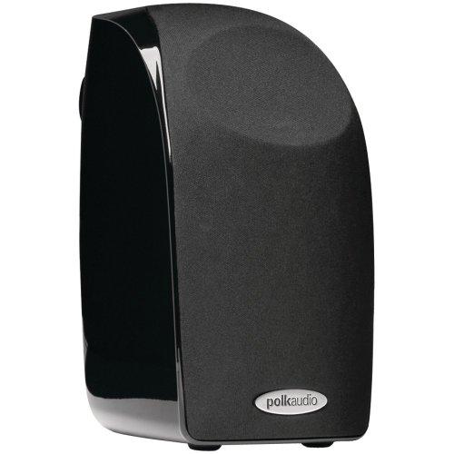 Polk Audio Blackstone TL1 Satellite Speaker (Single, Black) | PowerPort Technology | Hi-Gloss Blackstone Finish | Compact Size, Crisp Sound | Pair with TL Series for Complete Home Entertainment