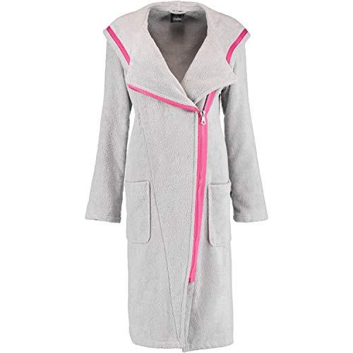 Cawö Home Bademantel Damen Kapuze mit Reißverschluss New Zipper 6116 Platin-pink - 702 M