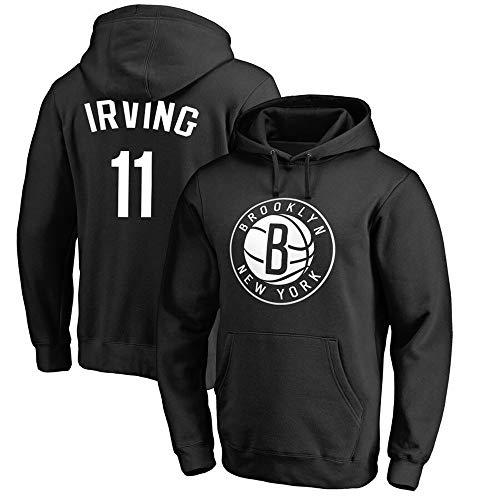 Sudadera para Hombre Fans de la NBA Jersey Brooklyn Nets Kyrie Irving Sudadera con Capucha con Mangas largas con cordón Casual Jersey cómodo S-XXXL, S