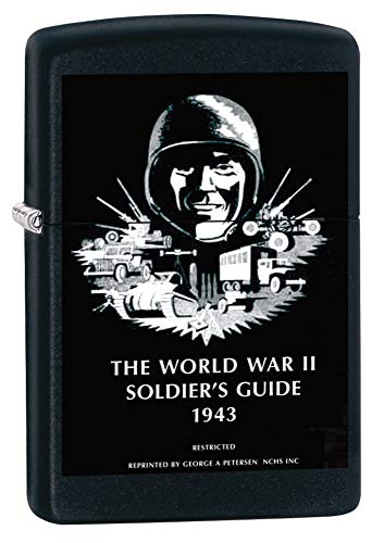 Zippo US Army WW2 Soldier's Guide Black Matte Pocket Lighter -  Zippo Manfacturing Company, 218-CI011961