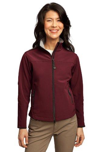 Port Authority® Ladies Glacier® Soft Shell Jacket. L790 Caldera Red/Chrome XXL