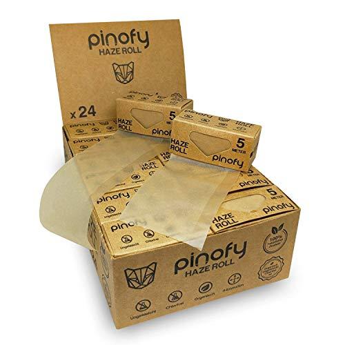 PINOFY Papers Rolls [24er] Organic Slim Papes zum Drehen - Endless Paper Zigarettenpapier - Rolling Papers for Smoking - Slim Rolls für Selbstdreher