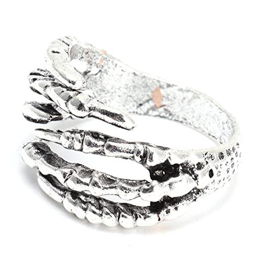 Anillo de hombre, anillo gótico, anillo de moda para hombre, joyería, anillo de garra de dragón para uso diario, viajes, fiesta para novio y marido