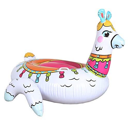 DKEE Piscina Inflable Alpaca Inflable Montaje Flotante Fila Súper Grande Hierba Barro Caballo Agua Inflable Reclinable Sofá Anillo De Natación