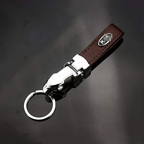 YYD Schlüsselanhänger aus Metall Auto-Logo-Schlüsselring Schlüssel Anhänger,Braun,Kia