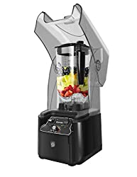 WantJoin 2200 Watt Professional Commercial Blender With Shield Quiet Sound Enclosure
