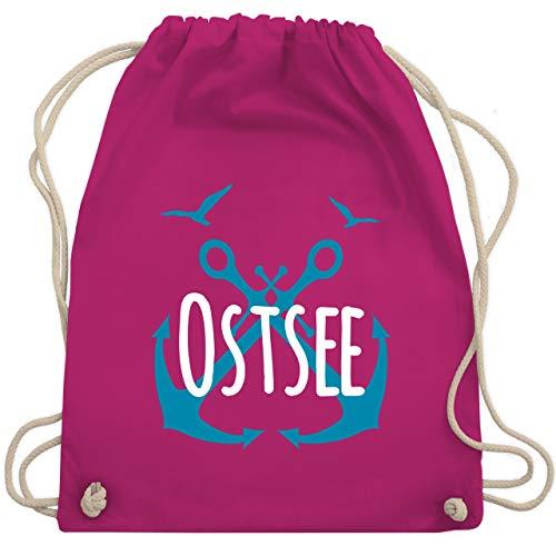 Shirtracer Statement - Ostsee - weiß - Unisize - Fuchsia - Geschenk - WM110 - Turnbeutel und Stoffbeutel aus Baumwolle