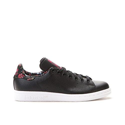 adidas Originals Damen Stan Smith Sneakers, Schwarz (Core Black/Core Black/Vivid Berry S14), 40 2/3 EU