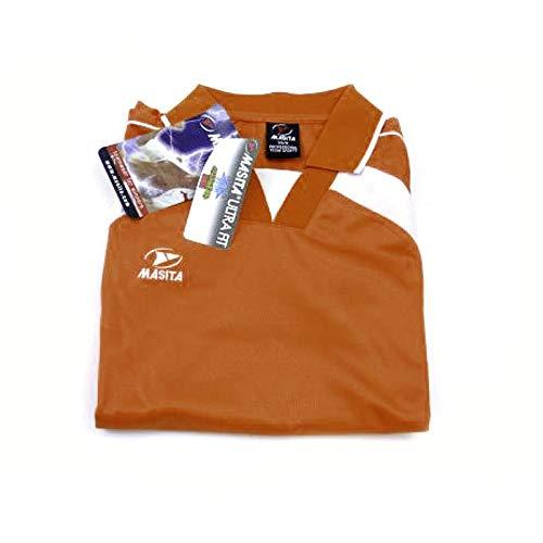Masita - T-Shirt Langarm Longsleeve - Kragen - Trikot - orange - XS/SS