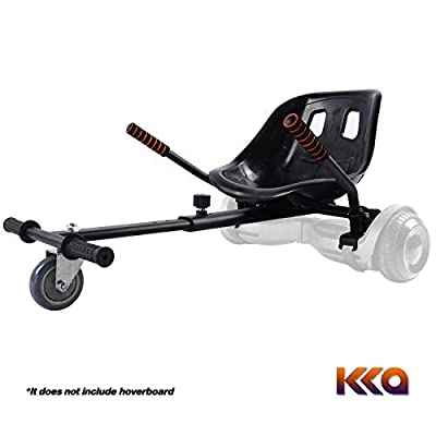 KKA Hoverboard Accessories, Hoverboard Seat Attachment Fits Self Balancing Scooter Go Cart Frame (Black)