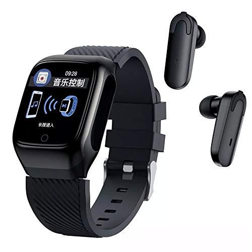 TYOP Reloj Inteligente, Auriculares Bluetooth, Llamadas binaurales Inteligentes, Pulsera de la sincronización de la información de la Salud del podómetro, la absorción magnética Fuerte