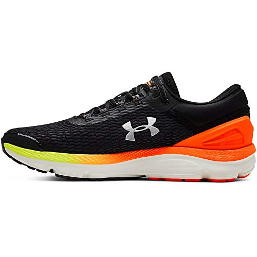 Under Armour Men's Charged Intake 3 Running Shoe, Black (001)/Orange Glitch, 9.5