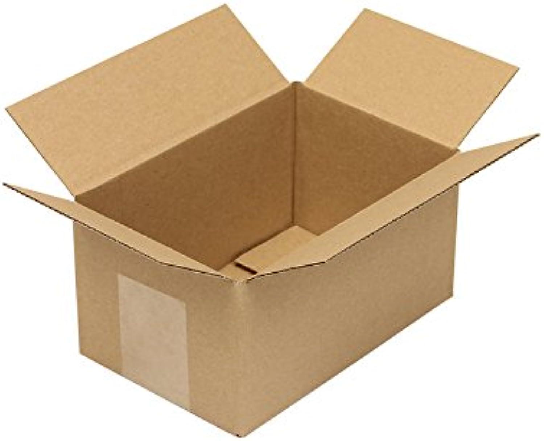 Faltkarton aus Wellpappe, Wellpappe, Wellpappe, 1-wellig, braun, Abm (LxBxH)  180x120x100mm, Qual. 1.1E, 100 Stück B07CLFFR9W    | Sale Düsseldorf  acb544