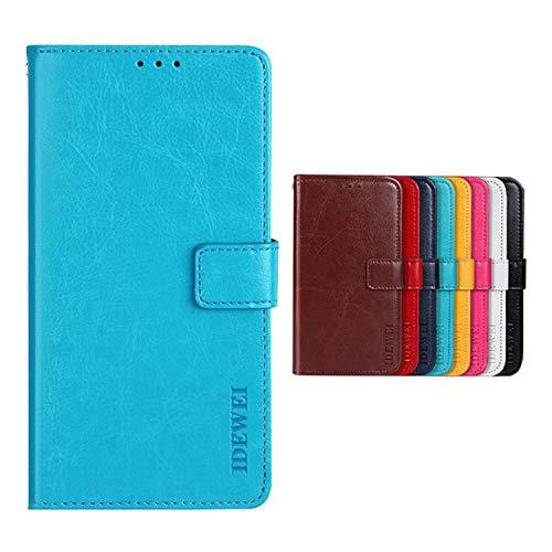Botongda für TP-LINK Neffos C5A Hülle,Magnetverschluss Kunstleder Tasche mit Standfunktion & Kreditkartensteckplatz Flip Wallet Case Cover für TP-LINK Neffos C5A (Blau)