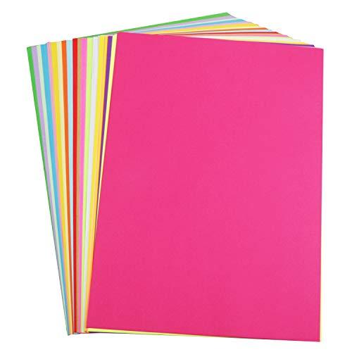 HUASUN Paper de Colores Papel para Papiroflexia A4 70gsm Papel de Impresión y Copiar Papel para Manualidades, DIY Decoración, Boceto, Papel de corte, 100 hojas 20 colores