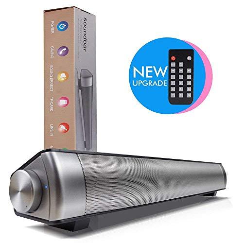 ZWMM Soundbar FüR Tv GeräTe,Soundbar Mit Subwoofer Für TV 360 Surround Sound 10 W Ausgangs-Subwoofer-Unterstützung MP3 / USB/TF-Karte Smartphone PC TV Tablet