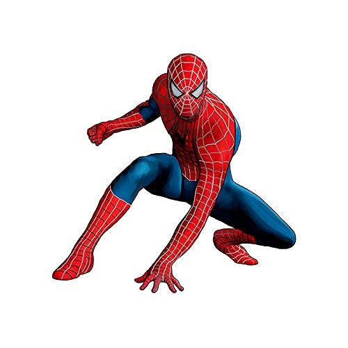XXYYKK 3D Anime Avengers Spiderman Iron Man Capitán América Thor Hulk Pegatinas de Pared Póster Calcomanías de Pared de habitación de niños Calcomanías de Pared de Sala de Estar, A30 60 * 60cm