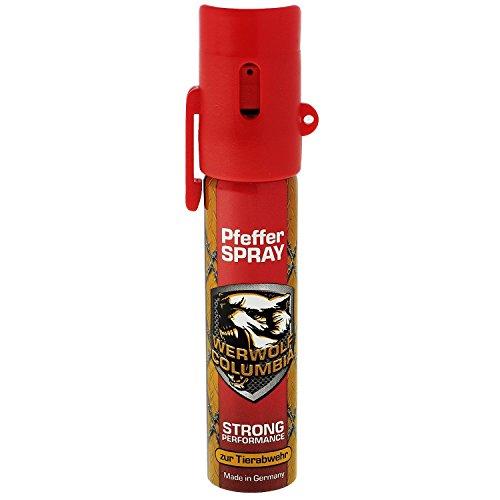 Columbia Werwolf Pfefferspray hochdosiertes Verteidigungsspray Made in Germany - Spray zur Selbstverteidigung bei Tierattacken