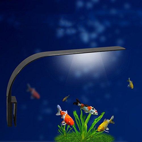 UEETEK Luce LED Acquario Lampada Clip per Acquario Luminoso con Luce Bianca