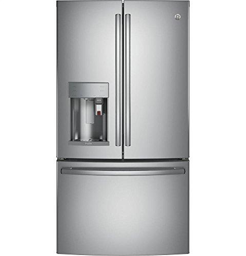 Image of GE PFE28PSKSS Profile 27.8 Cu. Ft. Stainless Steel French Door Refrigerator - Energy Star: Bestviewsreviews