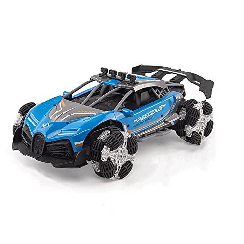 KGUANG Coche RC Stunt Spray 1:12 Escala de alta velocidad Todoterreno Escalada Carreras 2.4G Control remoto Buggy Modelo de simulación Vehículo de juguete eléctrico para niños Regalo de cumpleaños par