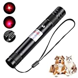 Long Range High Power Tactical Red Dot Light Presentation Pointer for Indoor Teaching/Office Meeting, USB Recharge Outdoor Interactive Cat Laser Toy, Star Cap Adjustable Focus for Night Camping Hiking