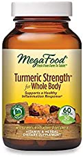 MegaFood, Turmeric Strength for Whole Body, Maintains a Healthy Inflammation Response, Vitamin and Herbal Dietary Supplement Vegan, 60 Tablets (30 Servings)