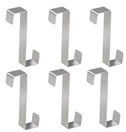 Youfui Over Door Hooks Rack Heavy Duty S/Z Hook, Pack of 6