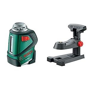 Bosch PLL 360 – Nivel láser, 1.5 V (ref. 0603663001) + Bosch 0.603.692.000 Base móvil, Negro