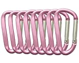 With improved structure to make it stronger and lighter. The bonus Stainless Wire keychain allows you to easily hook your keys on the carabiner. Carabiner Clips are made of superior durable lightweight aircraft aluminum alloy. So it is elegant durabl...