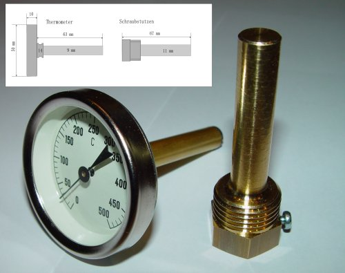 Thermometer / Backofenthermometer 0°C - 500°C