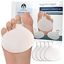 Dr. Frederick's Original Metatarsal Pads - 4 Pc - Ball of Foot Cushions for Rapid Pain Relief - Gel Foot Pads