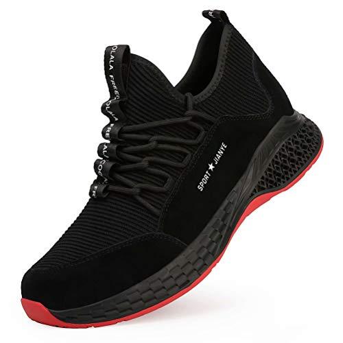 Zapatos de Trabajo Mujer Hombre Zapatillas de Seguridad Ligeras S3 Transpirable con Punta de Acero Anti-aplastante