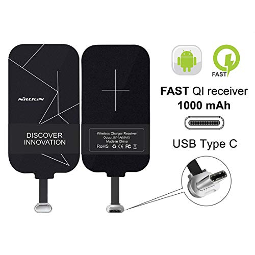 Nillkin QI Wireless Charging Receiver Type-C Caricabatterie Ricevitore tipo C Ultra Slim wireless receiver Per Pixel XL/LG V20 / HTC 10 / One Plus 3 e altri telefoni di grandi dimensioni USB C